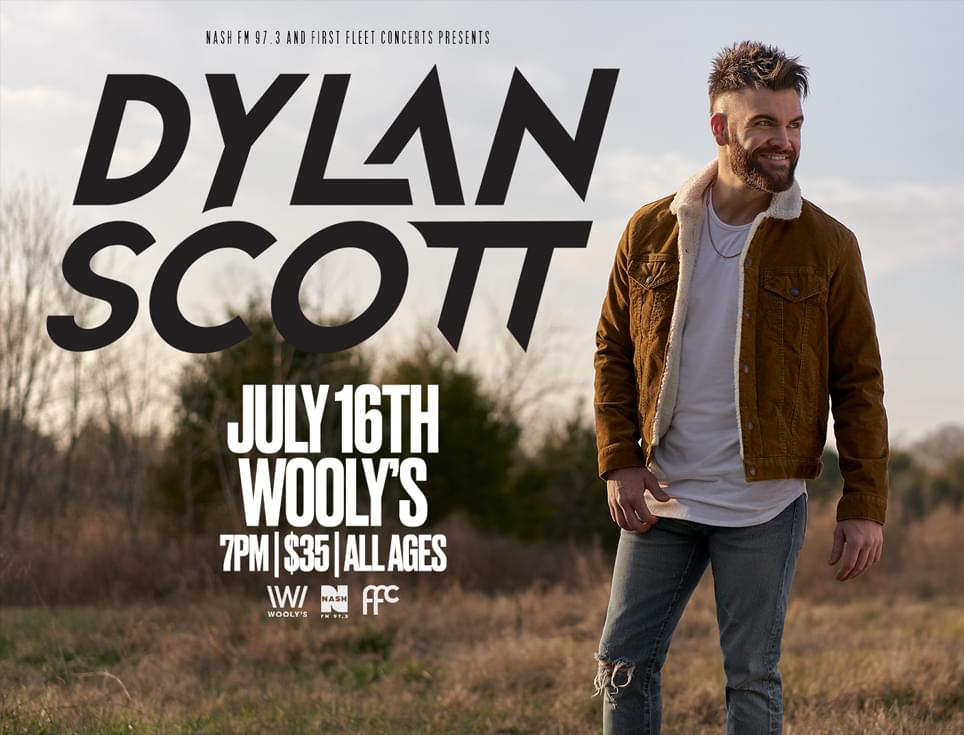 (POSTPONED TO JULY 16TH) Dylan Scott at Wooly's