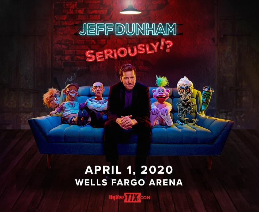 (POSTPONED TO JULY 30TH) Jeff Dunham at Wells Fargo Arena
