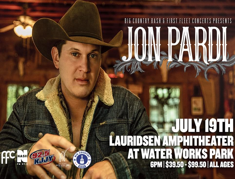 (CANCELLED) Jon Pardi at the Big Country Bash