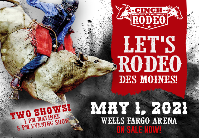 CINCH World's Toughest Rodeo Returns to Wells Fargo Arena on May 1st!