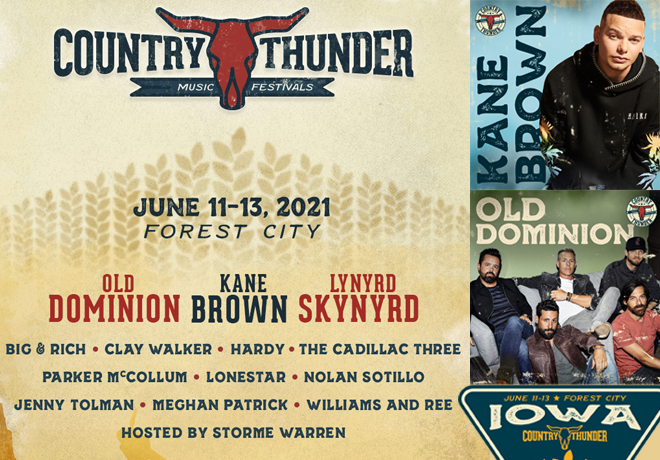 Enter to win a pair of weekend passes for Country Thunder