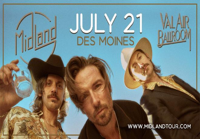 Midland Live at the Val Air Ballroom, July 21!