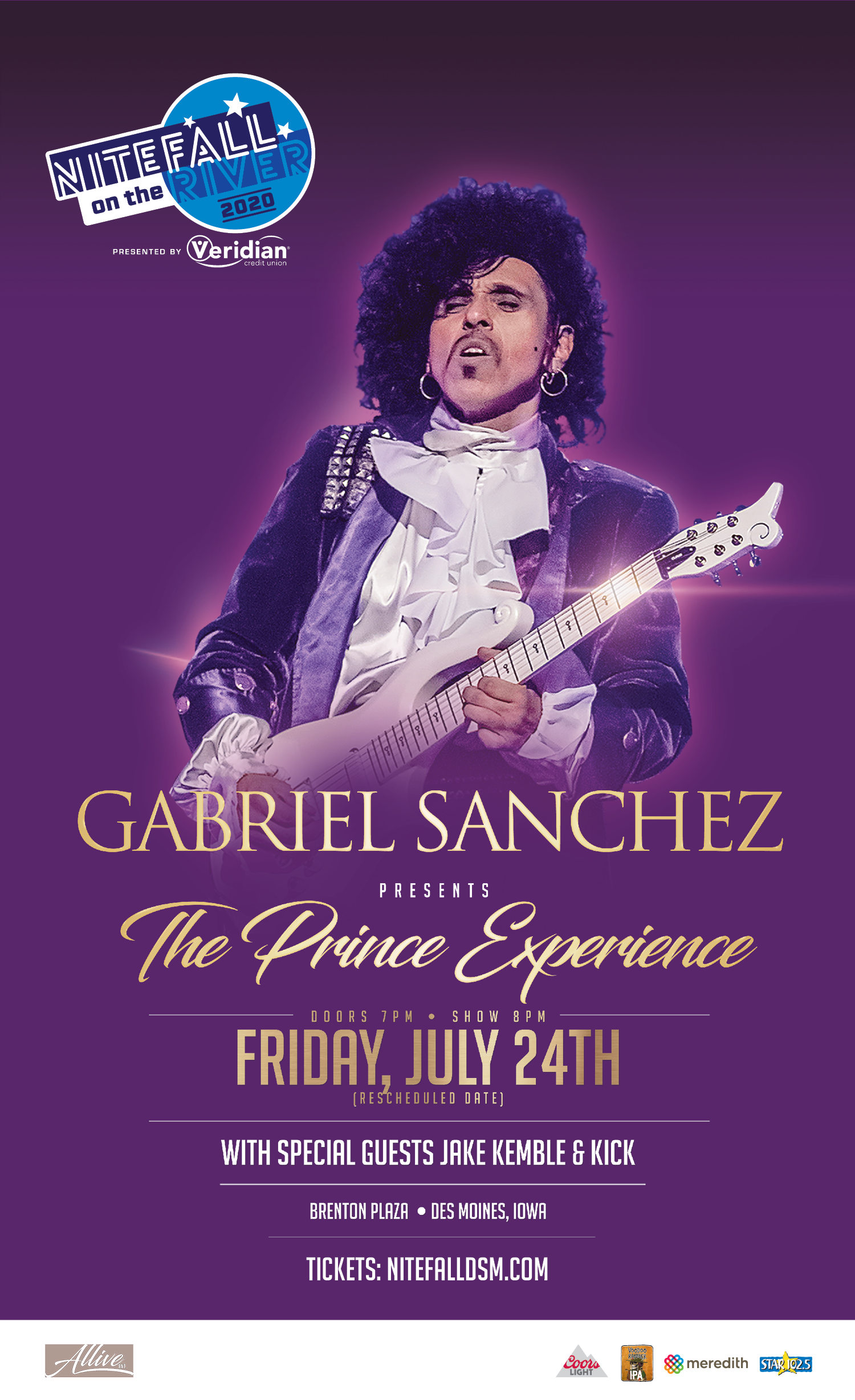 (POSTPONED TO JULY 24TH) Prince Experience at Nitefall on the River