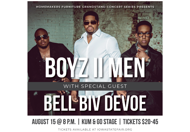R&B Groups Boyz II Men and Bell Biv DeVoe Are Coming to the 2021 Iowa State Fair
