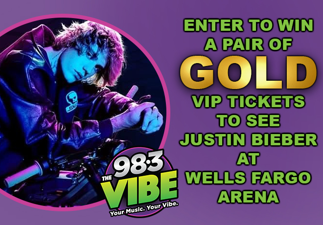Enter To Win A Pair Of Gold VIP Tickets to See Justin Bieber!