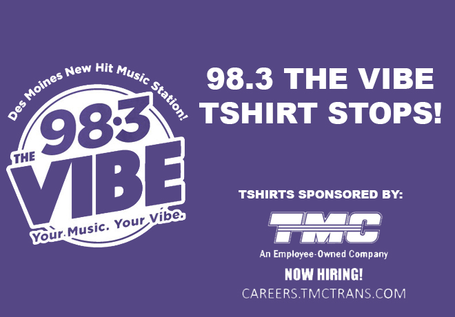 98.3 The Vibe T-Shirt Stops!