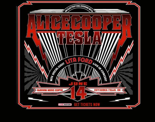 Alice Cooper & Tesla, with special guest Lita Ford at Blossom! Tickets here!