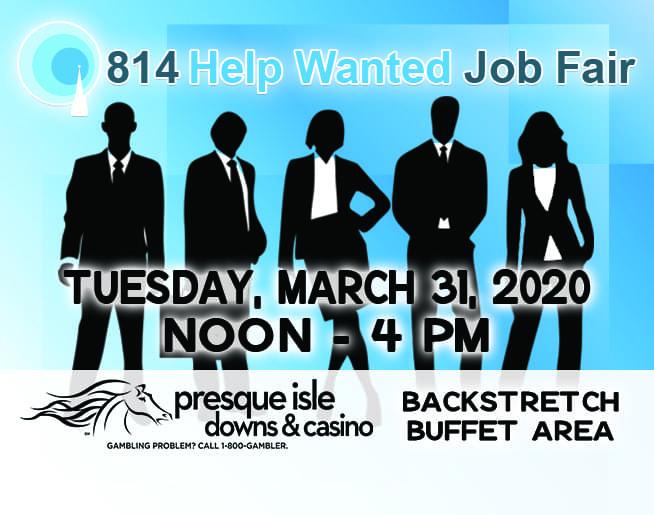 814 Job Fair – March, 31, 2020 at Presque Isle Downs & Casino!