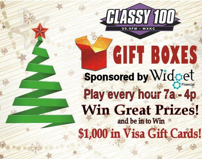 CLASSY 100 Gift Boxes 2019 sponsored by Widget Financial!