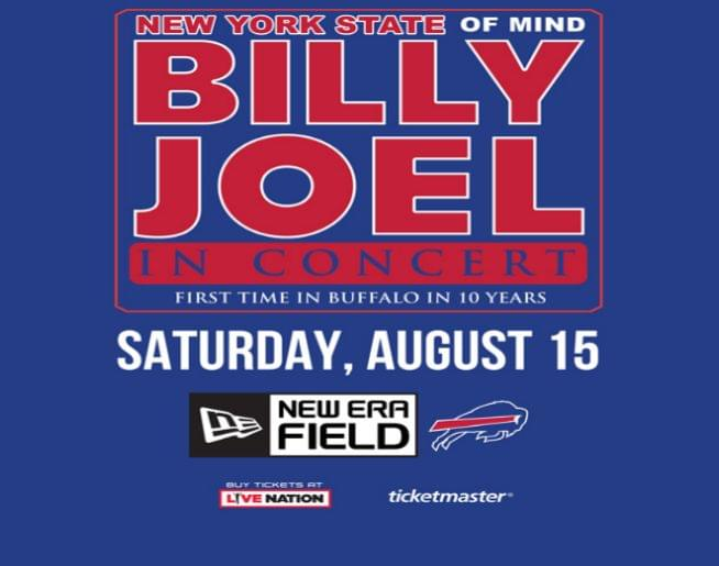 Billy Joel is coming to Buffalo for the first time in 10 years – Saturday, August 15!