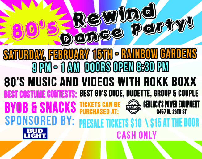 80's Rewind Dance Party 2020!