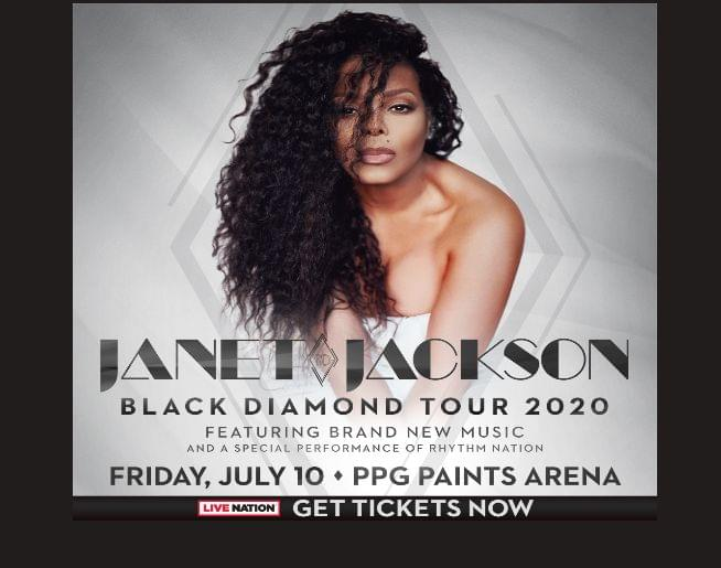 Janet Jackson – PPG Paints Arena – July 10! Tickets on sale NOW!