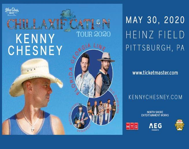 KENNY CHESNEY – at  HEINZ FIELD – MAY 30, 2020!