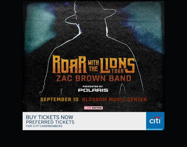Zac Brown Band coming to Blossom Sept 10 – ticket details here!