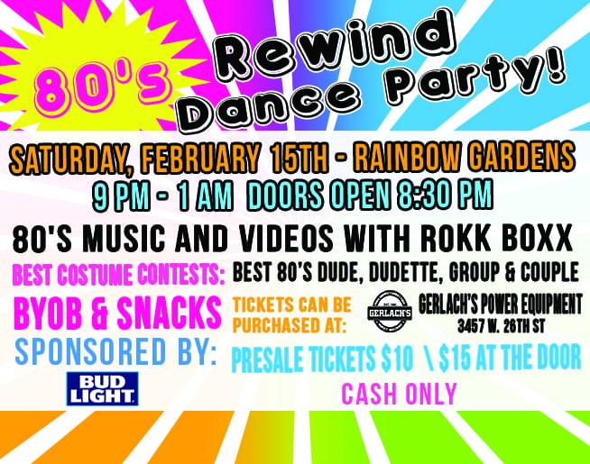 80's Rewind Dance Party 2020!