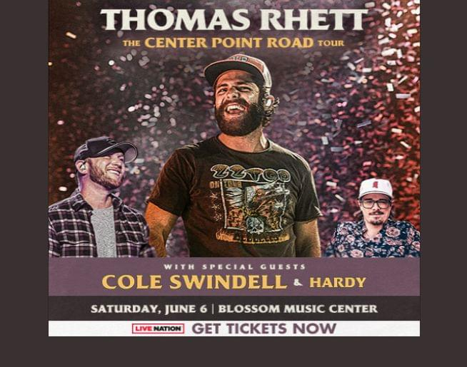 Thomas Rhett: The Center Point Road Tour 2020 at Blossom – June 6!