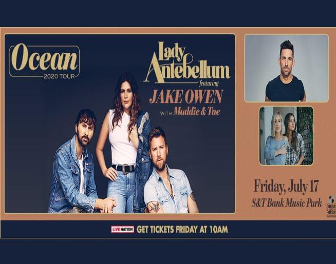 Lady Antebellum with Jake Owen and Maddie & Tae! Tickets on sale Friday!
