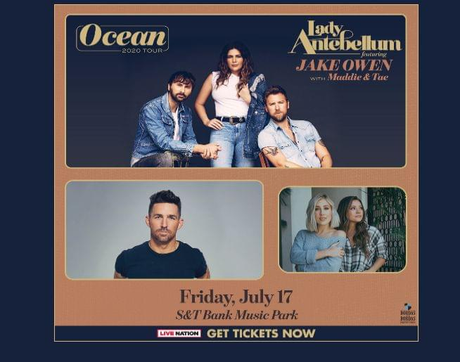 Lady Antebellum with Jake Owen and Maddie & Tae! Get tickets here!