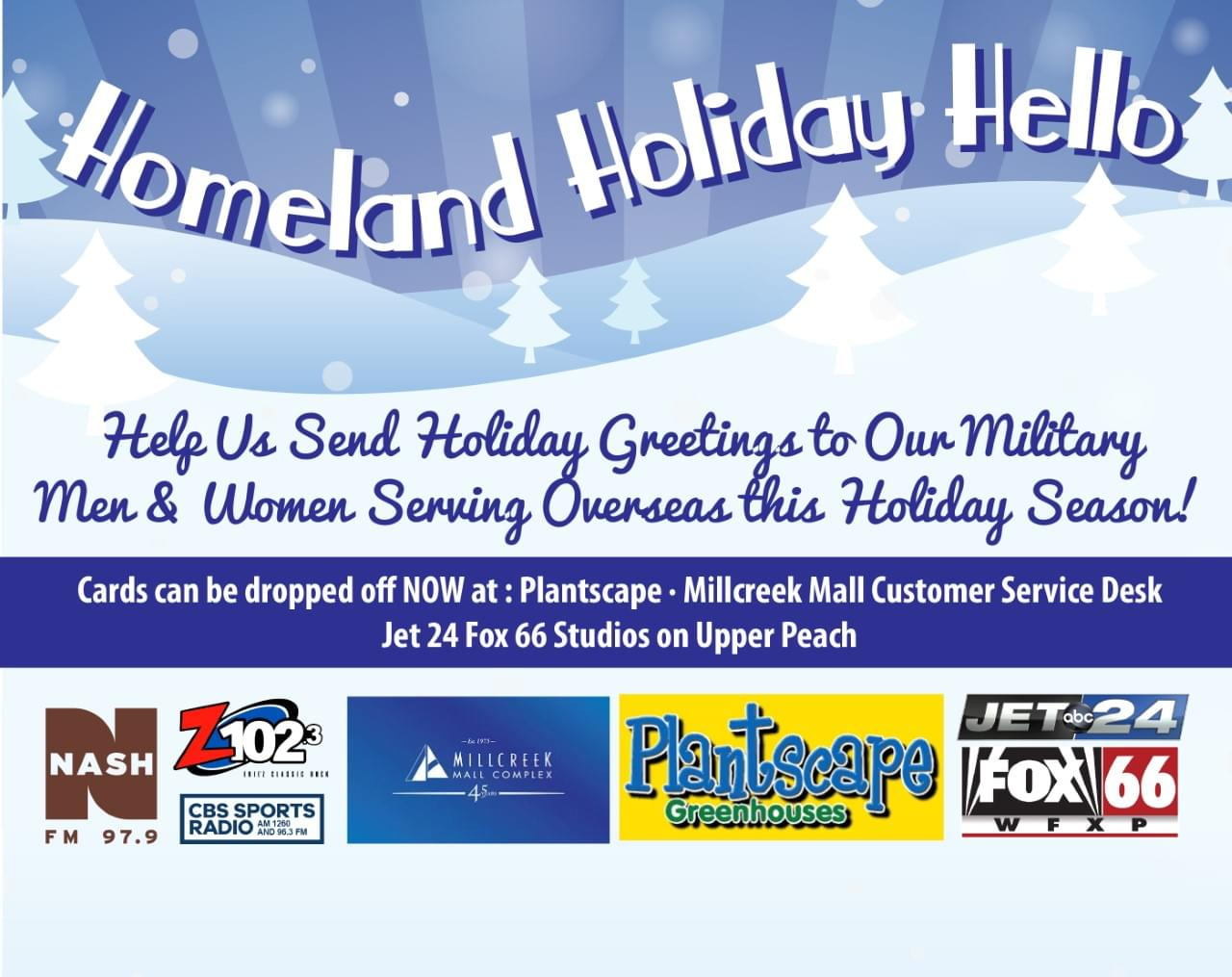 Support our Troops with the Homeland Holiday Hello!