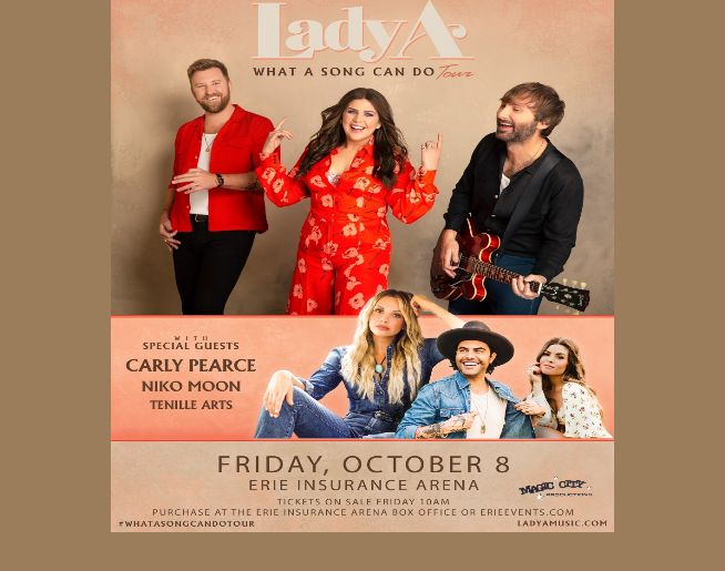 Lady A is coming to Erie Insurance Arena October 8th!
