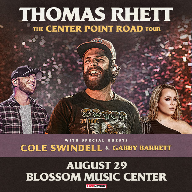 Win Tickets to Thomas Rhett – with Special Guests Cole Swindell and Gabby Barrett!
