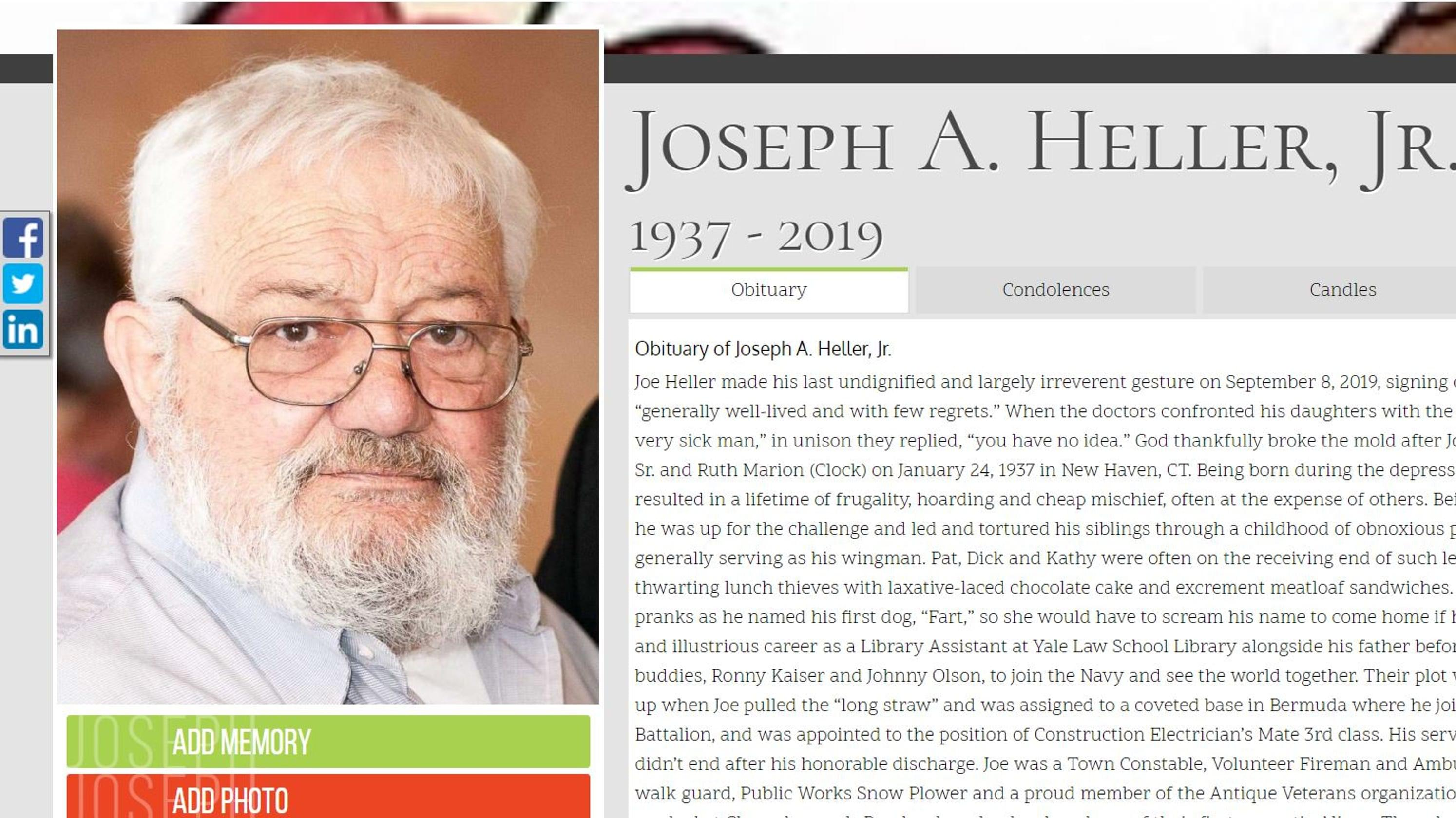 My Kids Might Want to Keep This Obit For Future Reference……
