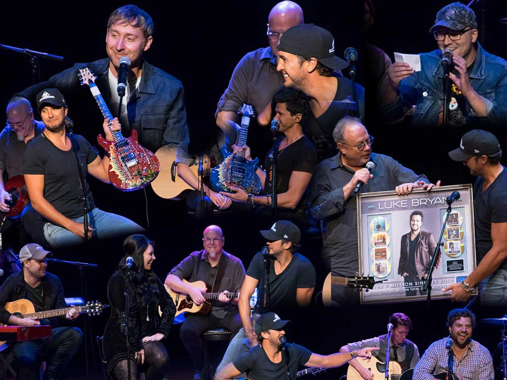 Photo Gallery: Luke Bryan Celebrates 7 No. 1 Hits By Performing With the Songwriters Who Penned Them