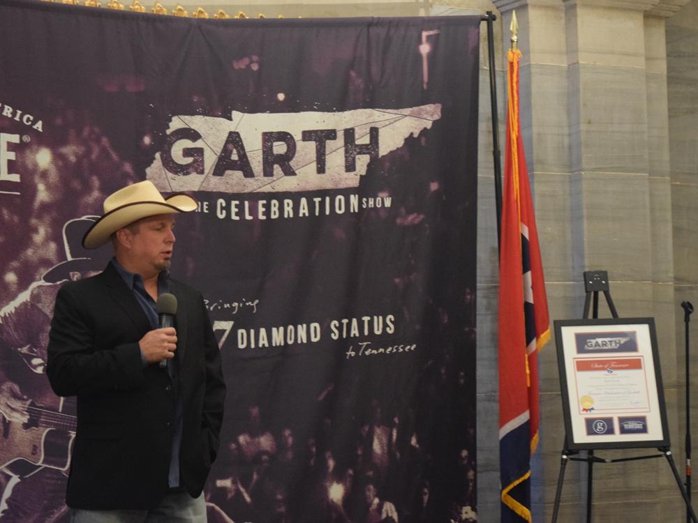 New Tennessee Ambassador of Goodwill Garth Brooks Announces Free Nashville Show on Oct. 24