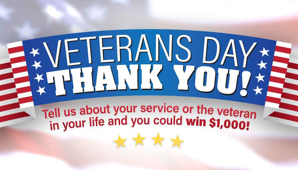 Veterans Day Thank You Contest