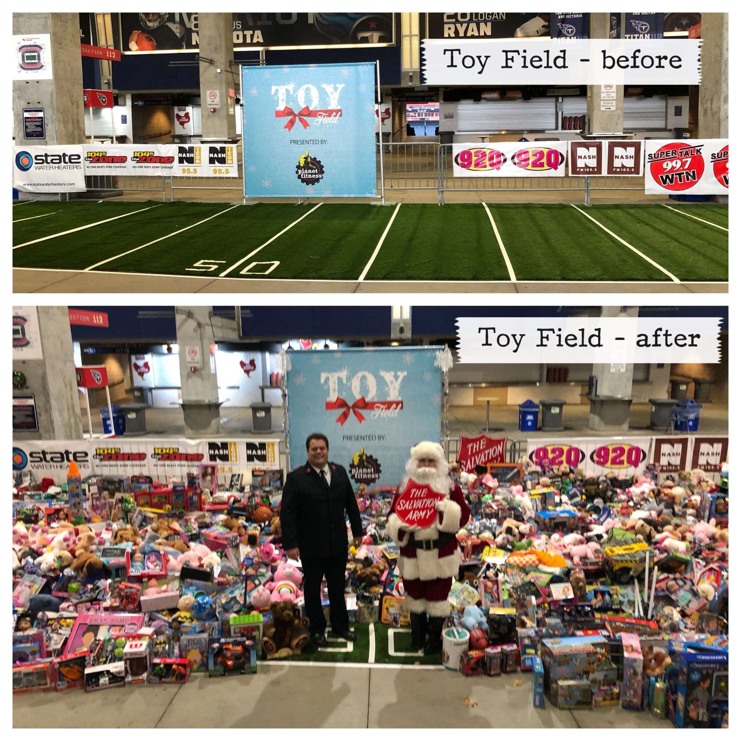 Cumulus Nashville Collects Thousands of Toys at Toy Field!