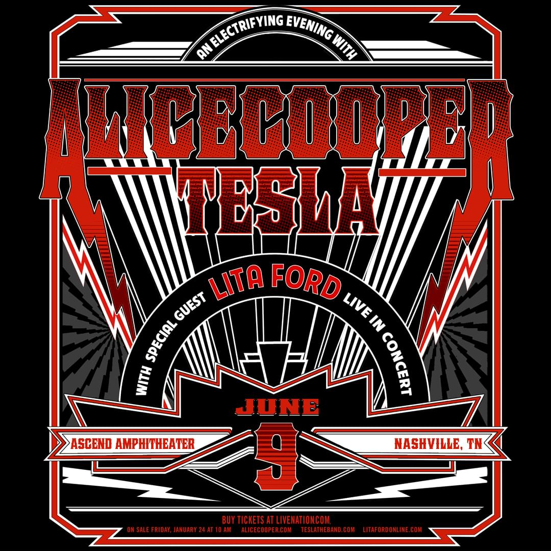 Enter to Win Tickets to See Alice Cooper and Tesla, with Special Guest Lita Ford!
