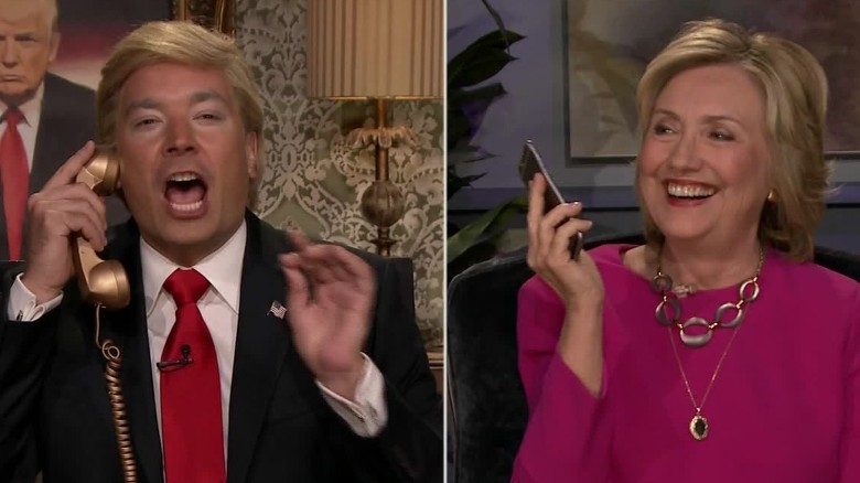 Hillary Clinton gets a call from 'Trump' on 'The Tonight Show'