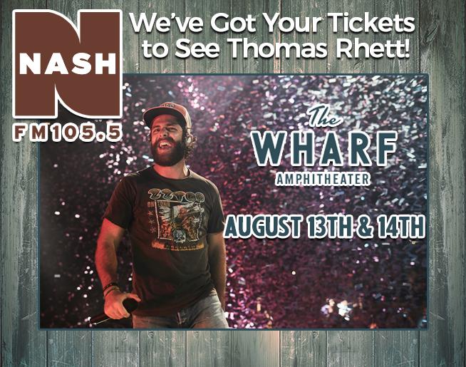 Win Tickets to Thomas Rhett at The Wharf