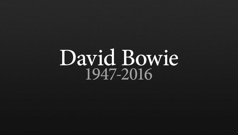 Music Legend David Bowie Has Died