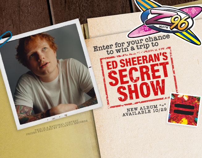 Ed Sheeran's Secret Show Contest