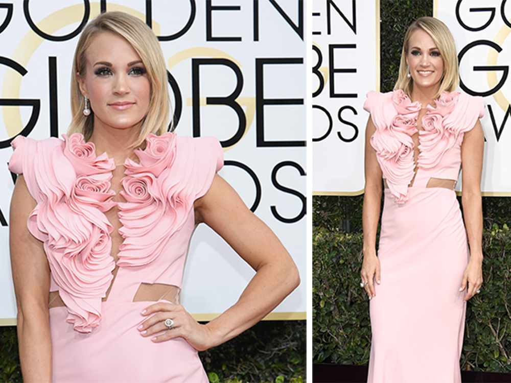 Carrie Underwood Shines at the 74th Annual Golden Globes, Keith Urban Looks Dapper