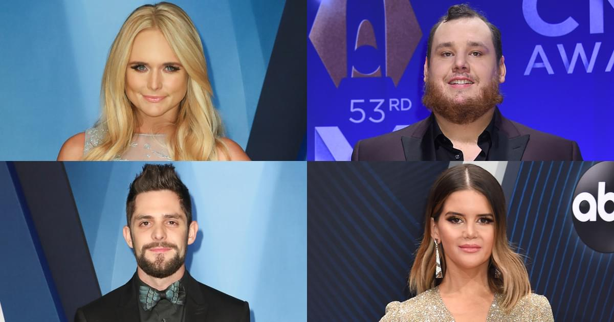 CMA Awards Announce First Round of Performers, Including Miranda Lambert, Luke Combs, Maren Morris, Thomas Rhett & More