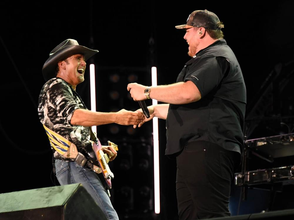 "Watch Luke Combs Team With Tim McGraw on ""Real Good Man"" at CMA Fest"