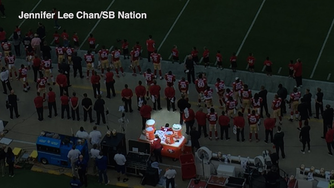 49ers, NFL, teammates respond to Kap sitting during the national anthem