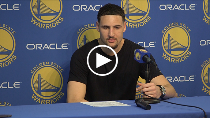 Thompson gives funny response to reporter asking why he's been special