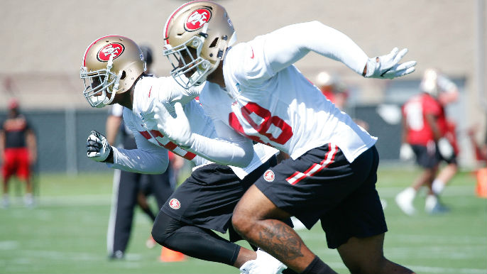 Ambulance takes 49ers linebacker Donavin Newsom to hospital after practice collision