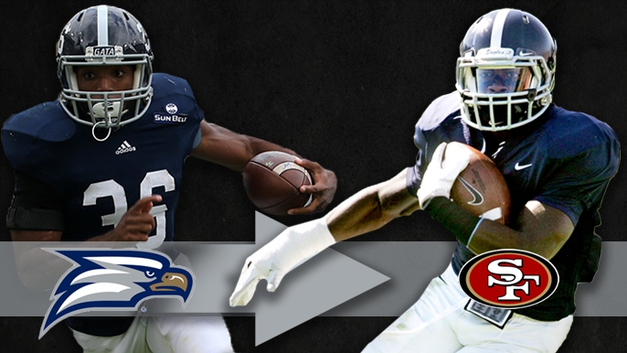 Georgia on their minds: How Jerick McKinnon and Matt Brieda emerged from Georgia Southern to form 49ers' 1-2 punch