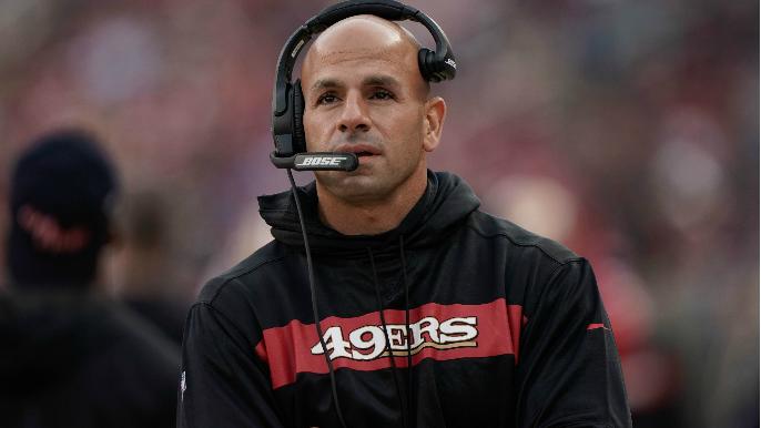 49ers Notebook: Saleh on Shanahan's leadership style, the D-line rotation, and a 'raccoon on meth'