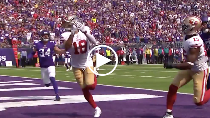Dante Pettis makes fantastic toe-tapping catch for first career touchdown