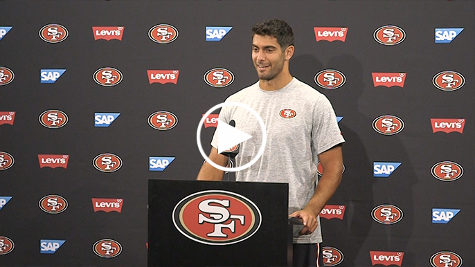 Garoppolo responds to comment from Vikings defensive lineman about getting scared