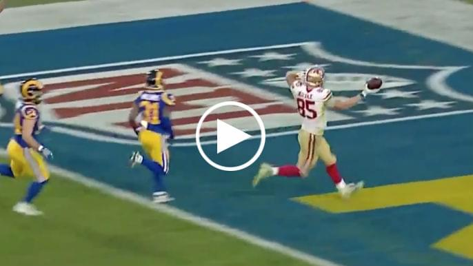 Watch George Kittle Breaks Nfl Record With 43 Yard