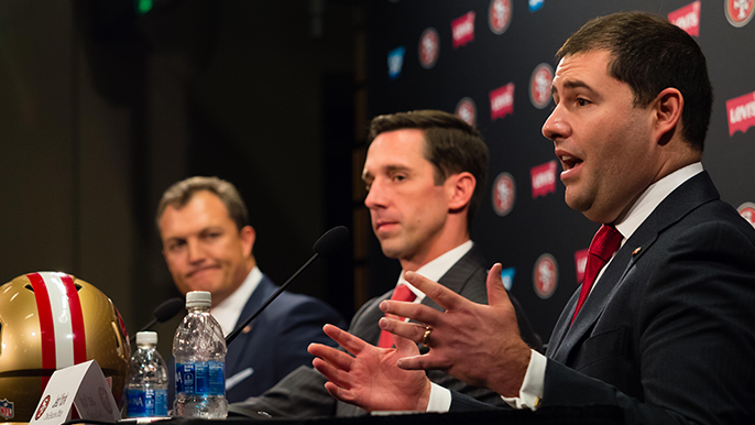 Jed York's perspective on banners calling for his head, White House visit, and The Shawshank Redemption