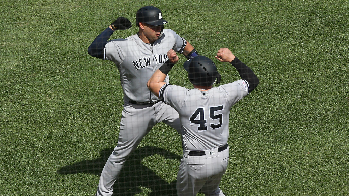 Sànchez's grand slam blasts Yankees past Giants 6-4