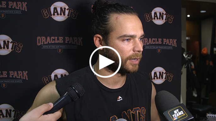 Brandon Crawford discusses why he enjoys playing behind Andrew Suarez