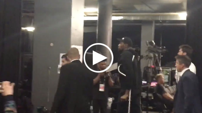 Kevin Durant leaves arena in crutches, to have MRI Tuesday